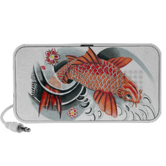 Cool Oriental Japanese Red Koi Carp Fish tattoo Mini Speakers