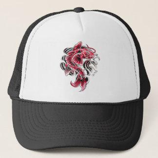 Cool Oriental Japanese Red Koi Carp Fish tattoo Trucker Hat