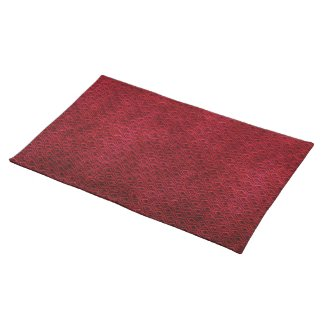 Cool  oriental japanese  red scale placemat