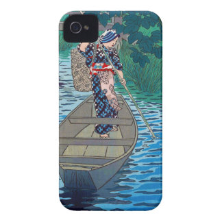 Cool oriental japanese river boat fishing woman Case-Mate iPhone 4 case