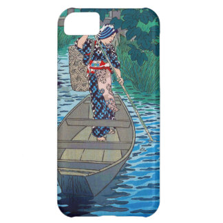 Cool oriental japanese river boat fishing woman iPhone 5C case