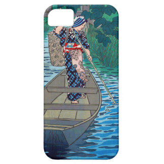 Cool oriental japanese river boat fishing woman iPhone 5 cases