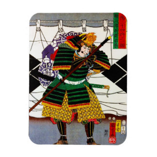 Cool oriental japanese Samurai General Warrior art Magnet