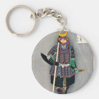 Cool oriental japanese Samurai Warrior Yari Spear Basic Round Button Keychain