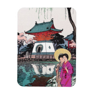 Cool oriental japanese Shinobazu pond Yoshida art Magnet