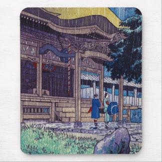 Cool oriental Japanese Shiro Kasamatsu Rainy day Mouse Pad