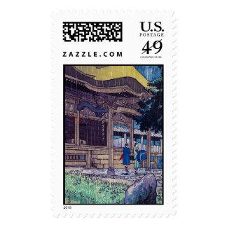 Cool oriental Japanese Shiro Kasamatsu Rainy day Stamps