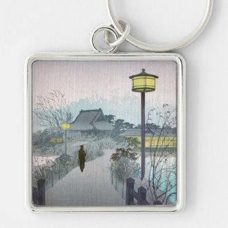Cool oriental japanese shiro night rain shinobazu key chain