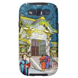 Cool oriental japanese shrine temple people hanga samsung galaxy s3 cases