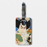 Cool oriental japanese Shunsen Kabuki actor art Tag For Luggage
