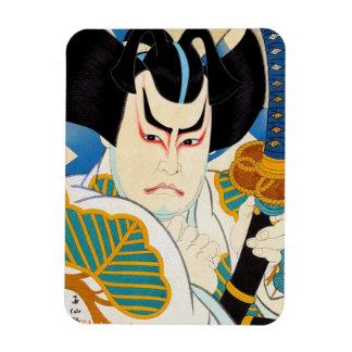 Cool oriental japanese Shunsen Kabuki actor art Rectangular Photo Magnet