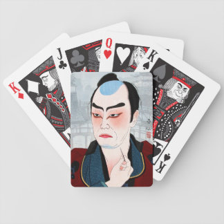 Cool oriental japanese Shunsen Natori Kabuki actor Card Decks