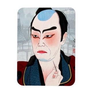 Cool oriental japanese Shunsen Natori Kabuki actor Rectangular Photo Magnet