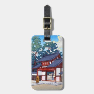Cool oriental japanese summer village scene tag for luggage