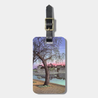 Cool oriental japanese Sunset Glow at Otemon Travel Bag Tags