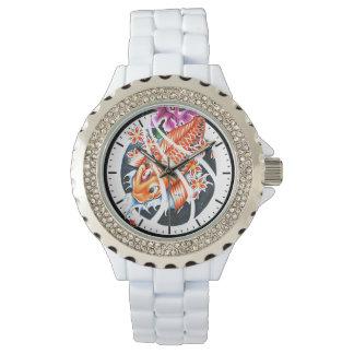 Cool oriental japanese tattoo ink lucky koi fish wrist watch