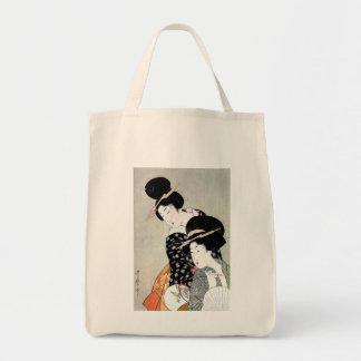 Cool Oriental Japanese Traditional Geisha art Tote Bag