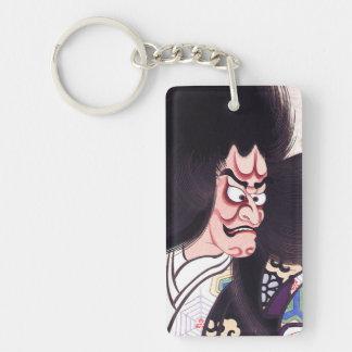 Cool Oriental Japanese Tsuchigumo Kabuki tattoo Double-Sided Rectangular Acrylic Keychain