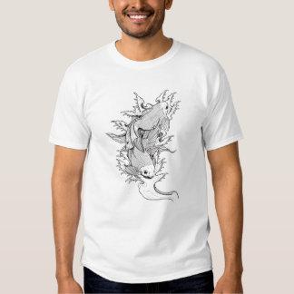 Cool Oriental Japanese Twin Koi Carp Fish tattoo Tee Shirt