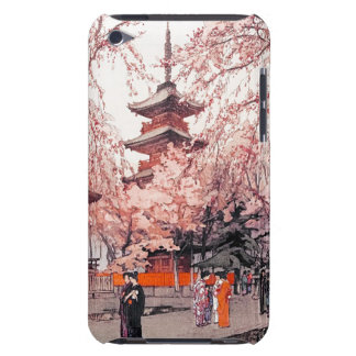 Cool oriental japanese Ueno Park watercolour art iPod Case-Mate Case