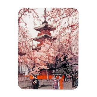 Cool oriental japanese Ueno Park watercolour art Magnet