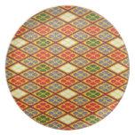 Cool oriental japanese vibrant pattern flower dinner plates