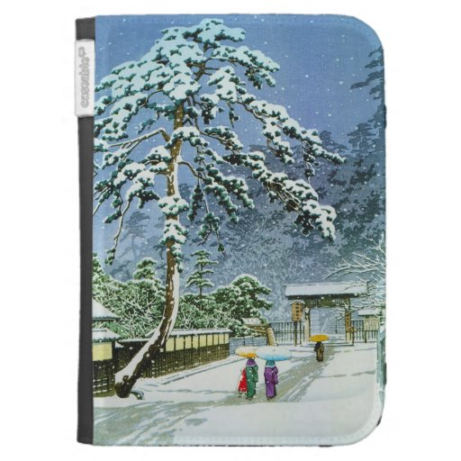 Cool oriental japanese watercolor Honmonji Temple Case For The Kindle