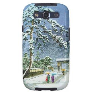 Cool oriental japanese watercolor Honmonji Temple Galaxy S3 Case