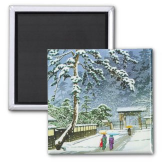 Cool oriental japanese watercolor Honmonji Temple Magnet