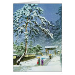 Cool oriental japanese watercolor Honmonji Temple Stationery Note Card