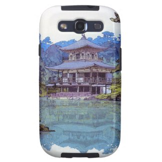 Cool oriental japanese watercolour temple painting galaxy s3 case