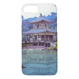 Cool oriental japanese watercolour temple painting iPhone 7 case
