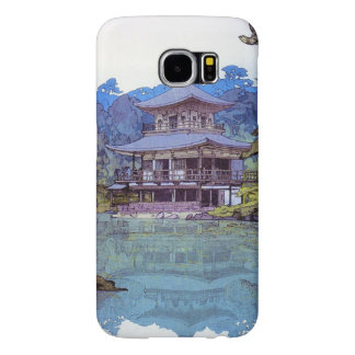 Cool oriental japanese watercolour temple painting samsung galaxy s6 cases