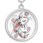 Cool Oriental Japanese White Koi Fish Carp tattoo Custom Necklace