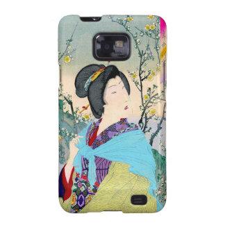 cool oriental japanese woodprint classic geisha samsung galaxy s2 cases