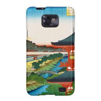 Cool oriental japanese woodprint landscape scenery samsung galaxy s2 case