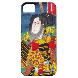 Cool oriental japanese woodprint samurai warrior iPhone SE/5/5s case