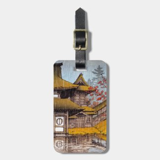 Cool oriental japanese Yama temple Sendai Kawase Luggage Tag