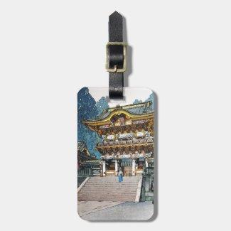 Cool oriental japanese Yomei Gate Yoshida Travel Bag Tag