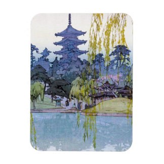 Cool oriental japanese Yoshida lake Shrine Temple Magnet