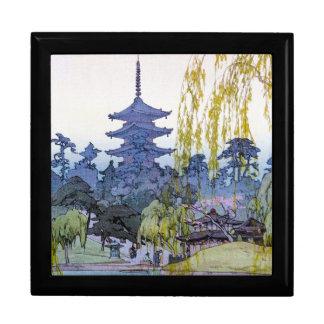Cool oriental japanese Yoshida lake Shrine Temple Trinket Boxes
