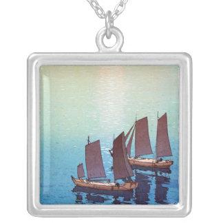 Cool oriental japanese Yoshida sea side sundown Custom Necklace