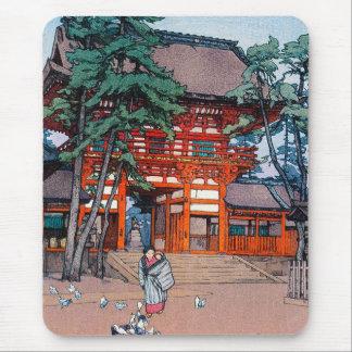 Cool oriental japanese Yoshida village scenery art Mousepad