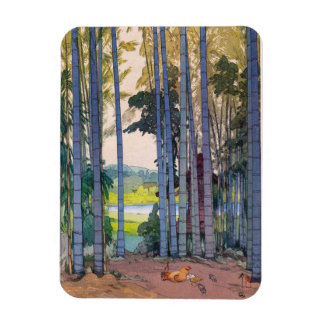 Cool oriental japanse Yoshida Bamboo Forest art Rectangular Photo Magnet