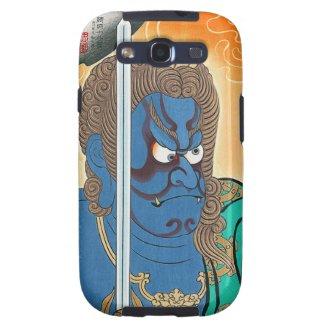 Cool oriental kabuki makeup warrior samurai art samsung galaxy s3 case
