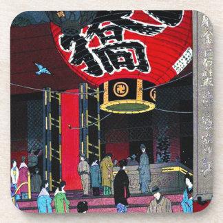Cool oriental Kasamatsu Big Lantern Asakusu Temple Beverage Coaster