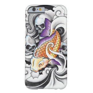 Cool Oriental Koi Carp Skull tattoo Barely There iPhone 6 Case