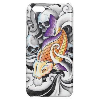 Cool Oriental Koi Carp Skull tattoo iPhone 5C Cover