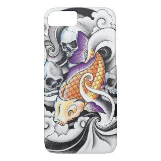 Cool Oriental Koi Carp Skull tattoo iPhone 8/7 Case