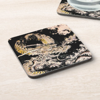 Cool oriental Legendary Ancient Chinese Dragon ink Coaster